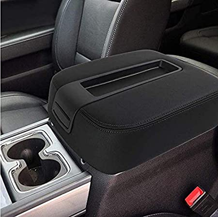 NHILES Center Console lid Arm Rest Cover Replacement for 2007-2014 Chevy Chevrolet Silverado,Tahoe,Suburban,Avalanche,GMC Sierra,Yukon,Yukon XL Armrest Center Console