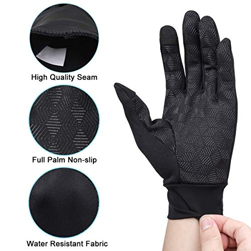 Winter Gloves,Touch Screen Gloves Lightweight Warm Gloves Smartphone Texting Non-Slip for Women and Men Cycling,Running,Walking in Late Fall or Early Winter