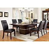 Furniture of America Lyzandrie Contemporary 7-Piece Dining Set