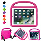 "LTROP New iPad 9.7 2017 Model Kids Case - Light Weight Shock Proof Handle Friendly Convertible Stand Kids Case for Apple iPad 9.7-inch 2017 Latest Gen / iPad Air / Air 2 / iPad Pro 9.7"" - Rose"