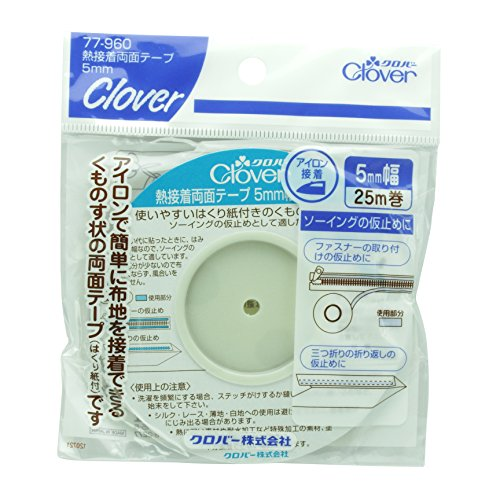 Clover thermal adhesive double-sided tape white 5mm (japan import)