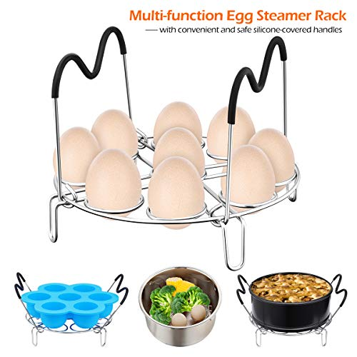 Pressure Cooker Accessories, Homemaxs 16 Pcs Instant Pot Accessories Compatible with 6,8,10Qt- Steamer Basket,Springform Pan,Egg Rack,Parchment Paper,Egg Bites Molds,Silicone Mitts - with Free Recipes by Homemaxs (Image #3)