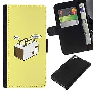 Leather Etui en cuir || HTC Desire 820 || Tostada Tostadora amarillo impresiones Divertido @XPTECH
