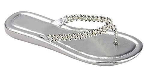 Brand New Starbay Women's Silver Beaded EVA Sandals