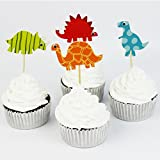 Beyond Sky 52 Pieces Cake Toppers Dinosaur Cupcake Picks Cupcake Toppers Food Fruit Picks for Decoration
