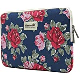 Canvaslife Flower Patten Laptop Sleeve 17 Inch and 17.3 Inch Laptop Case Bag
