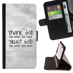 Momo Phone Case / Flip Funda de Cuero Case Cover - BIBLIA Gracias a Dios - Confía en Dios; - Apple Iphone 4 / 4S