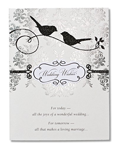 American Greetings Wedding Wishes Wedding Card with Glitter