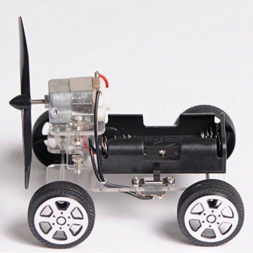Windmilling DIY Robot Smart Car OriGlam 【Merry Christmas】 Mini Motor Smart Robot Car Wind Car DIY Puzzle Robot Kit