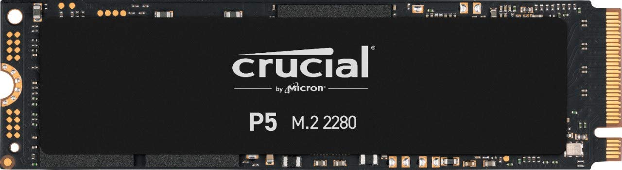 Crucial P5 500 GB CT500P5SSD8 Internal Solid State Drive-up to 3400 MB/s (3D NAND, NVMe, PCIe, M.2, 2280SS) , Black