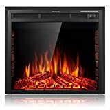SUNLEI 28'' Electric Fireplace Insert, Recessed Built in & Freestanding Fireplace Heater LED Adjustable Flame with Burning Fireplace Logs Touch Screen,Remote Control,Timer, 750W-1500W