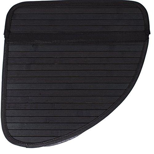 Birdrock home corner laundry hamper with lid and cloth liner bamboo black ebay - Corner hamper with lid ...