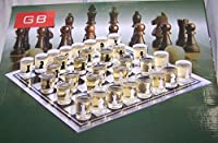 Drinking Chess Game Set with 32 Shot Glasses