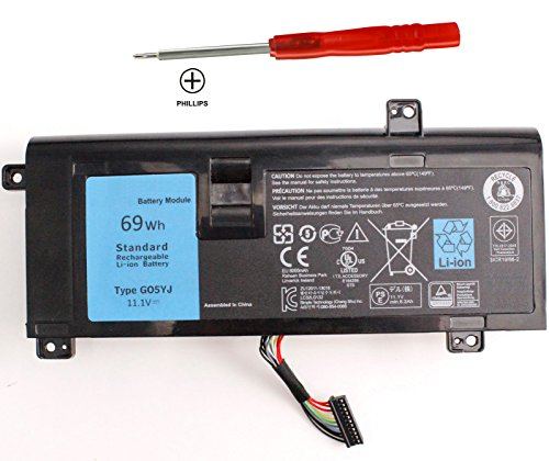SKY BOY SKY BOY 69WH G05YJ 8X70T Battery Compatible Dell Alienware 14 A14 M14X R3 R4 14D 14D-1528 ALW14D ALW14D-5528 ALW14D-5728 ALW14D-1528 14D-5528 0G05YJ ALW14D Y3PN0 ALW14D-4528 Notebook PC 6cells