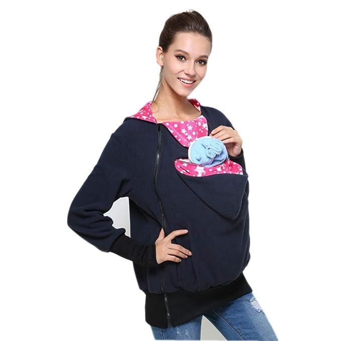 Lannister Fashion Portador De Bebé con Capucha Abrigo Chaqueta De Retro Canguro Mujeres Maternidad Embarazada Tops Fleece Grueso Sudadera con Capucha ...