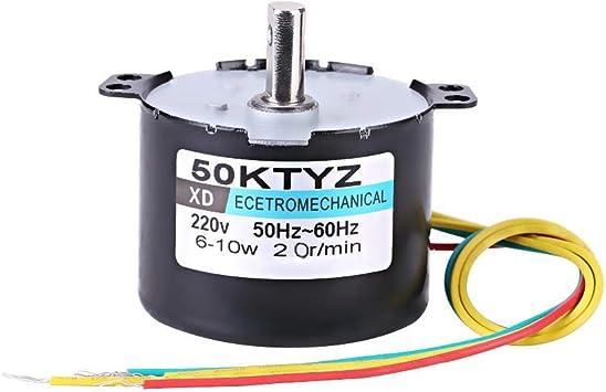 Min avec la Vitesse constante dengrenage en m/étal de Production de Fil de cuivre utilis/ée dans lautomatisation dinstrument Collant des #1 Moteur synchrone AC220V 10W 0.5A 2,5 20r