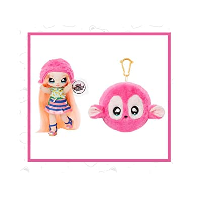 Fashion Doll Na Na Na Surprise 2-in-1 NINA NANNERS with Zippered Plush Baby Seal POM: Toys & Games