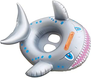 Ginkago Shark Shaped Kids Inflatable Baby Toddler Swimming Seat Float Pool Fish Ring -12 Monthes and Up