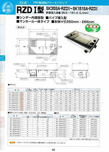RZDⅠ型 SK80SA-RZDⅠ ステンレス製蓋付 ステンレス製蓋付  B071P7KV5P