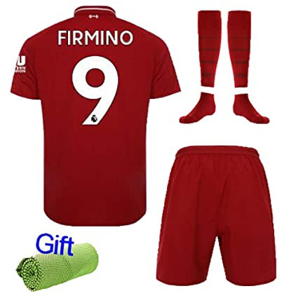 3bf12148151 FC FirstClass 2019 Football Soccer Kids Home Kit Red Jersey & Shorts &Socks  &Ice Face Cloth