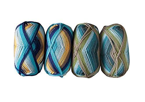 Knit Picks Felici Self-Striping Merino Sock Yarn Bundle (Hawaiian Shirt/Treehouse) Baby Wool 4 Ply