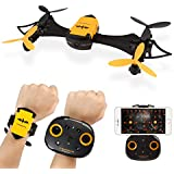 LeaningTech x Cheerson CX-70 Wearable WIFI FPV RC Quadcopter 0.3MP HD Camera 2.4G Drone, Gravity Sensor Altitude Hold Function