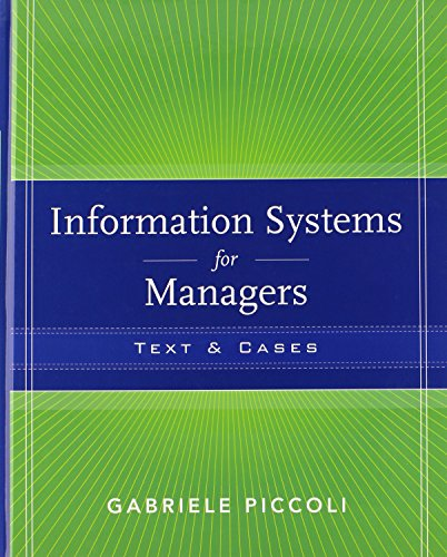 Information Systems for Managers: Texts and Cases-cover