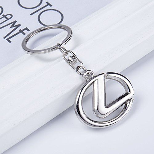 Chrome Ring Metal Key Keychain (QZS Lexus 3D Chrome Metal Key chain Car Logo Key ring, Best For Gifts (Lexus))