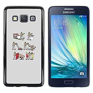 Stuss Case / Funda Carcasa protectora - Frankenwalk - Funny - Samsung Galaxy A3