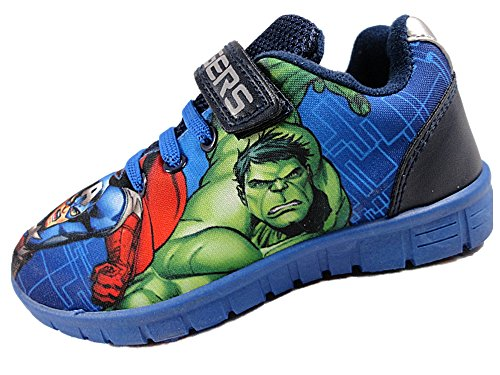 Amazon.com | Avengers Boys Marvel Blue Canvas Runner Trainer Childrens Shoes. Various UK Sizes | Sneakers