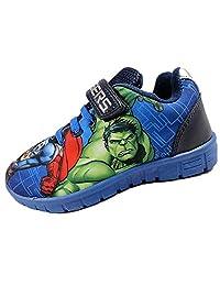 Avengers Boys Marvel Blue Canvas Runner Trainer Childrens Shoes. Various UK Sizes
