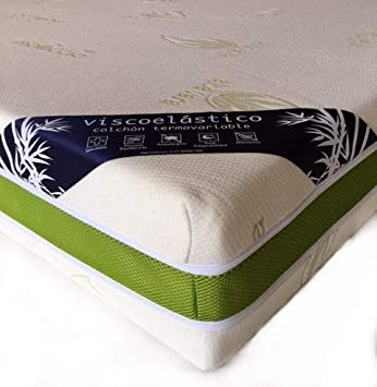 Mercatohouse - Colchon Viscoelastico Aloe Vera V+3 (Disponible en Todas Las Medidas) (150 x 190): Amazon.es: Hogar
