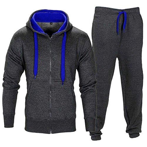 Grey Dark Set capuchon molletonné à Survêtement en molleton Gym Blue Sweatpants g8qnz