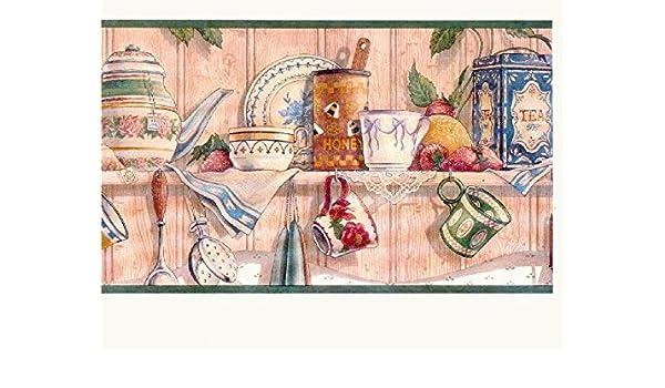 Kitchen Wallpaper Border Cl6043b Amazon Com