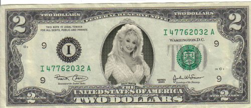 Dolly Parton $2 Mint! Rare! $1
