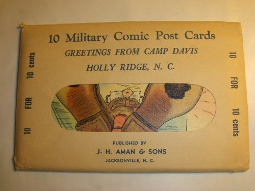 World War II Era 10 Military Comic Postcard Camp Davis Holly Ridge Nc. Military Comic Linen Ticnor Vintage Postcards from EPACKS Baseball and Football Cards