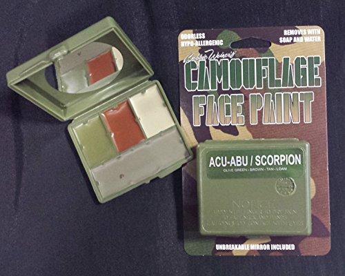 4 Color Camouflage Face Paint Scorpion OCP-ACU/OEF-CP Multicam Olive Green, Brown, Tan, Loam (Face Paint Multicam)