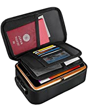 Moko Fireproof Document Bag, Small Fireproof Documents Safe Organizer with Lock - Fireproof & Water-Resistant 3-Layer File Storage Case for Important Files丨Money丨Cards丨Certificates丨Passport, Black