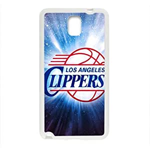 Los Angeles Clippers NBA White Phone Case for Samsung Galaxy Note3 Case