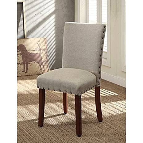 Beau Living Room Wood Custom Head Parsons Chairs (Set Of 2)