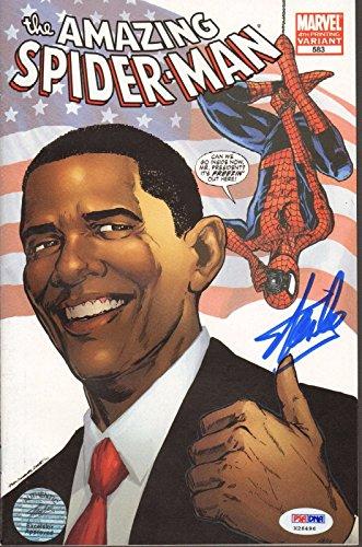 STAN LEE Signed Autographed SPIDER-MAN Barack Obama Comic Book PSA/DNA #X26496