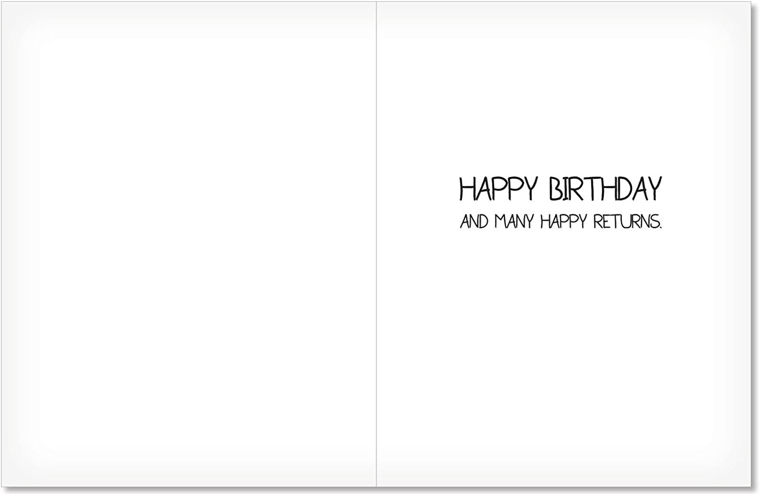 Funny Birthday Greeting Card with 4.63 x 6.75 inch Envelope by NobleWorks 6201Z Popcorn Recycle