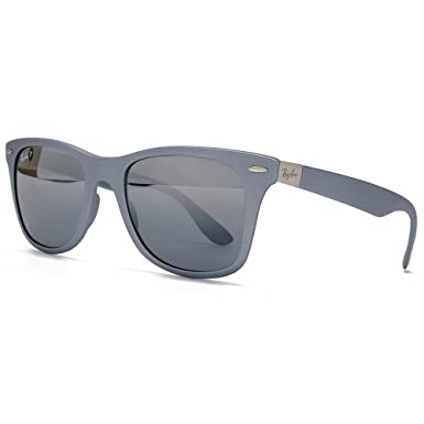 156c6214ff1 Ray-Ban Limited Edition Liteforce Wayfarer Sunglasses in Metallic Silver  Polarised  Amazon.co.uk  Sports   Outdoors