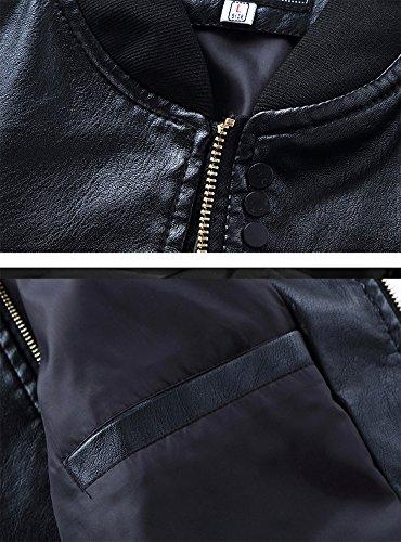 Pelle Giacca Bomber Jacket Uomo Cappotto Slim Cerniera Laozan Nero Di Giubbotto Fit Pu In HqgRg5Ix