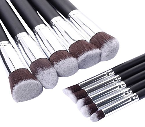 10PCS rose gold makeup brushes sets maquiagem hair eyebrow foundation brush pen cosmetics make up brushes Professional