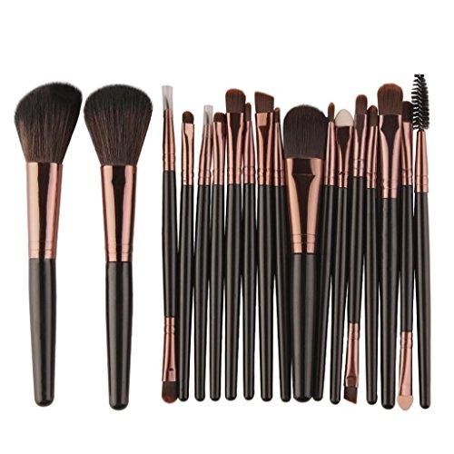 Daoroka Hot Clearance ! Daoroka 18 pcs Makeup Brush Set tools Make-up Toiletry Kit Wool Make Up Brush Set (Black) price tips cheap