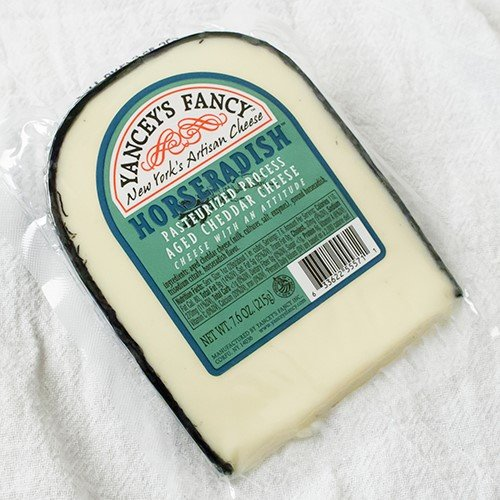 Fun Flavored Cheddars by Yancey's Fancy - Horseradish Cheddar (7.6 ounce) (New York Extra Sharp White Cheddar Cheese)