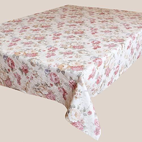 Kamaca Serie Romantic Rosas in Creme Rosa mit zarten Pastelltönen Markenqualität hoher Baumwolle Anteil (Schlaufenschal 140x245 cm) B07M7F23T5 Zierkissenbezüge