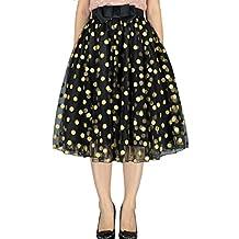 YSJ Lady's Organza Princess Skirt Bowknot Pleated Midi/ Knee Length TUTU Skirts