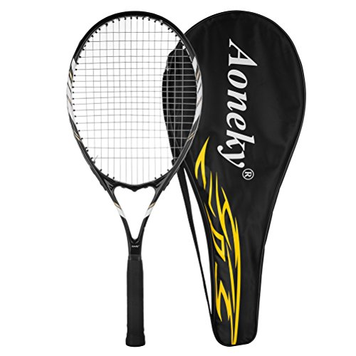 Aoneky 27'' Adult Tennis Racket (Black)